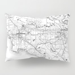 Los Angeles & San Diego Map Pillow Sham