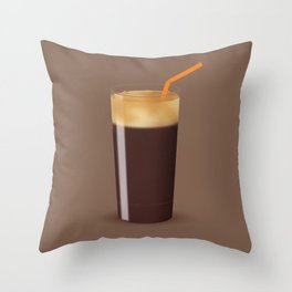 Shaken Not Stirred - Iced Coffee Illustration Throw Pillow