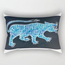 Tiger Blue Rectangular Pillow