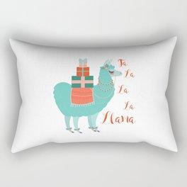 Fa la la la llama Rectangular Pillow