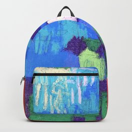 """Barbie's """"2008"""" Block Kids in Orange and Red Mountains Under a Blue Sky Backpack"""