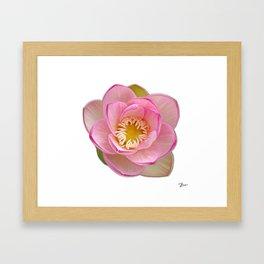 Digitally Painted Flower Framed Art Print
