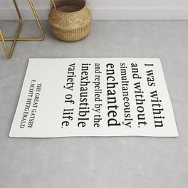 Within and Without Great Gatsby Quote by F Scott Fitzgerald Rug