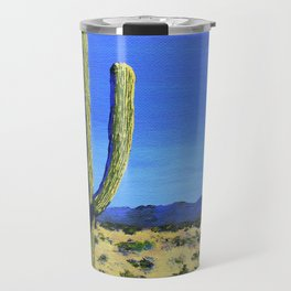 Cactus In the West by Mike Kraus - home decor cactus cacti interiors desert mountains blue yellow Travel Mug
