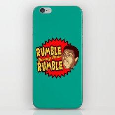 Rumble Young Man Rumble  |  Ali iPhone & iPod Skin