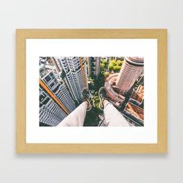 view high above top 5 Framed Art Print