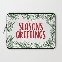 Seasons Greetings Wreath Laptop Sleeve