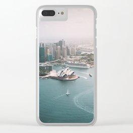 Sydney Opera House Harbour Bridge | Australia Aerial Travel Photography Clear iPhone Case