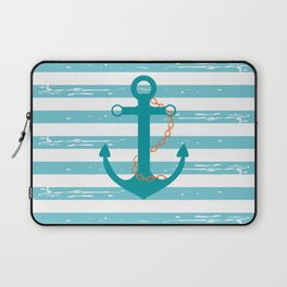 AFE Nautical Teal Ship Anchor Laptop Sleeve