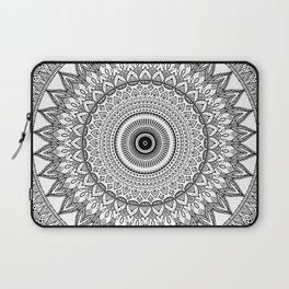 black and white mandala Laptop Sleeve