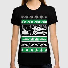 Santa Claus car sled Ugly gift T-shirt