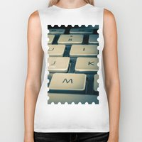 mac Biker Tanks featuring Mac Keyboard by Mauricio Togawa