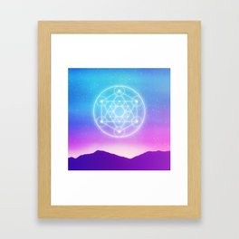 Sacred Geometry (Metatron) Framed Art Print