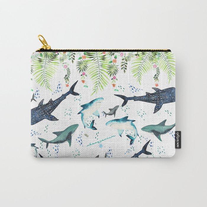 floral shark pattern Tasche