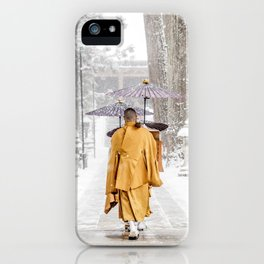 Japanese Buddhist Monks in Winter iPhone Case