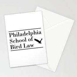 Philadelphia School of Bird Law Funny Stationery Cards