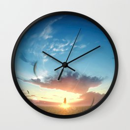 Sky Sunrise Original ArtWork Wall Clock