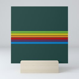 iRetro Midnight Green Mini Art Print