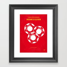 No056 My Oceans 11 minimal movie poster Framed Art Print
