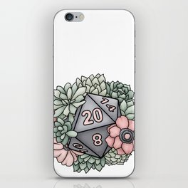 Succulent D20 Tabletop RPG Gaming Dice iPhone Skin