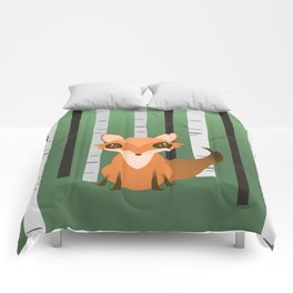 A fox in the woods Comforters