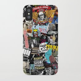 TROUBLE COLLAGE iPhone Case