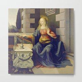 "Leonardo da Vinci ""Annunciation 2."" Metal Print"