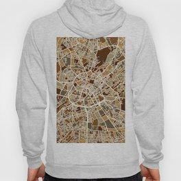 Manchester England Street Map Hoody