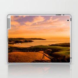 jacks bay new zealand beautiful colors at sunset farmland bay orange Laptop & iPad Skin