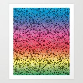 Rainbow Goo Art Print