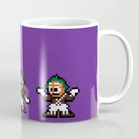 willy wonka Mugs featuring Pixelly Wonka by Eric A. Palmer