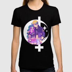 Pastel Goth Haruka & Michiru MEDIUM Womens Fitted Tee Black