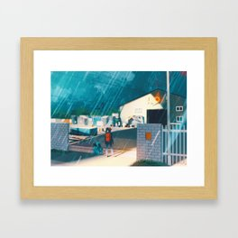 Vermilion gym - Kanto in real life Framed Art Print