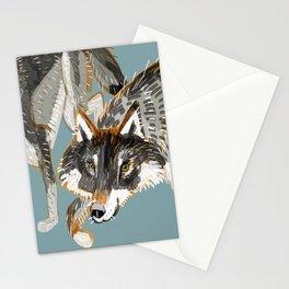 Totem Dark European Wolf Stationery Cards