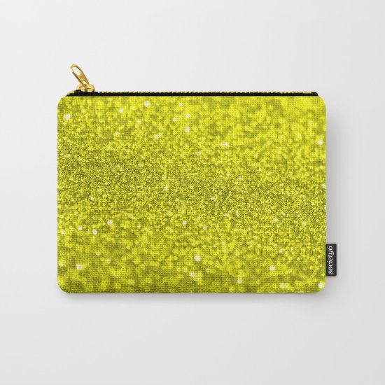 Bright Yellow Glitter Carry-All Pouch
