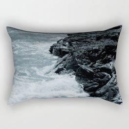 Crashing Waves On Rocks Rectangular Pillow