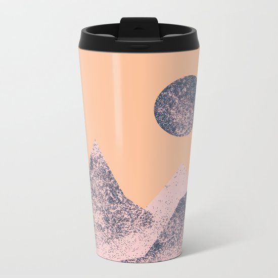 One Day Everything Will Happen – Collage Glitter Art Metal Travel Mug