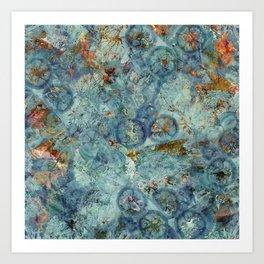 Cellular (Blue) Art Print