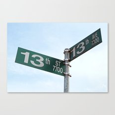 Lucky Junction Canvas Print