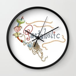 Pastaholic - Love spaghetti - Italian food - Pop Culture Wall Clock