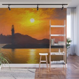 Lighthouse Impressionism Wall Mural