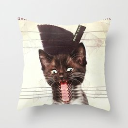 Slave To Kitty Throw Pillow