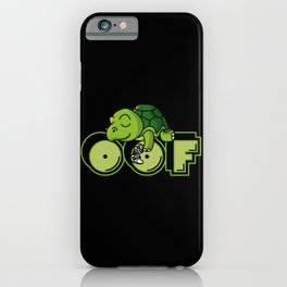 Oof Gamer Meme Turtle Video Game Gift iPhone Case