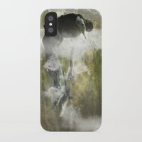 arya iPhone & iPod Cases featuring Man floating by ARTiSTiC TENDENCiES
