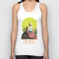peace Tank Tops featuring Peace by Colourbox