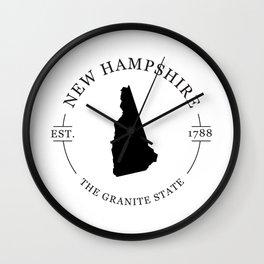 New Hampshire - The Granite State Wall Clock