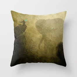 Elephant Caller Throw Pillow
