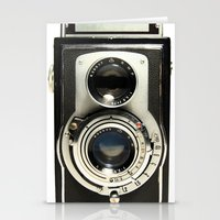 marina and the diamonds Stationery Cards featuring Vintage Camera by Ewan Arnolda
