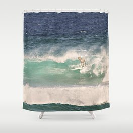 ALPACA - SURFING HAWAII Shower Curtain