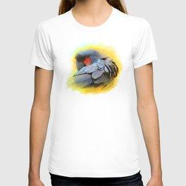Black Palm Cockatoo realistic painting T-shirt
